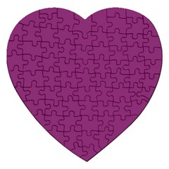 Grape Purple Jigsaw Puzzle (heart) by snowwhitegirl