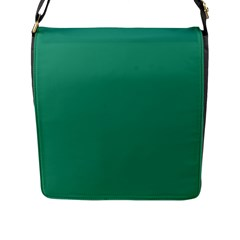 Teal Ocean Flap Messenger Bag (l)
