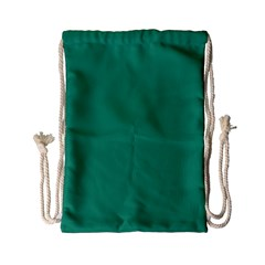 Teal Ocean Drawstring Bag (small) by snowwhitegirl