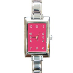 Rosey Day Rectangle Italian Charm Watch