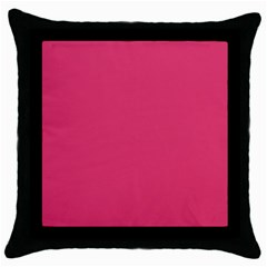 Rosey Day Throw Pillow Case (Black)