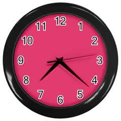 Rosey Day Wall Clocks (Black)