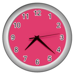 Rosey Day Wall Clocks (Silver)