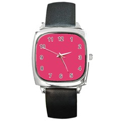 Rosey Day Square Metal Watch