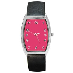 Rosey Day Barrel Style Metal Watch