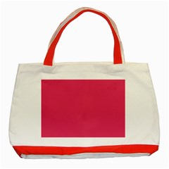 Rosey Day Classic Tote Bag (red) by snowwhitegirl