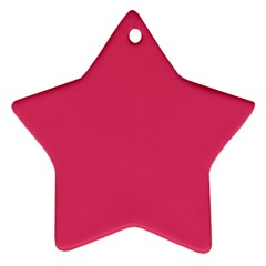 Rosey Day Star Ornament (Two Sides)