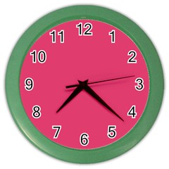 Rosey Day Color Wall Clocks