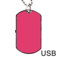 Rosey Day Dog Tag USB Flash (One Side)