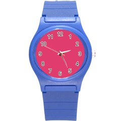 Rosey Day Round Plastic Sport Watch (S)
