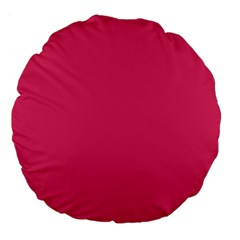 Rosey Day Large 18  Premium Flano Round Cushions by snowwhitegirl
