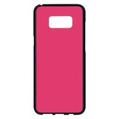 Rosey Day Samsung Galaxy S8 Plus Black Seamless Case