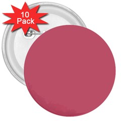 Rosey 3  Buttons (10 Pack)