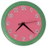 Rosey Color Wall Clocks Front