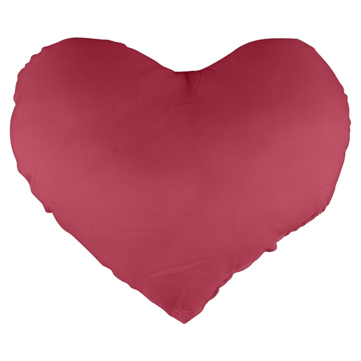 Rosey Large 19  Premium Heart Shape Cushions