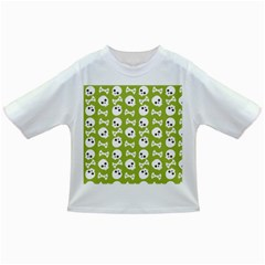 Skull Bone Mask Face White Green Infant/toddler T Shirts