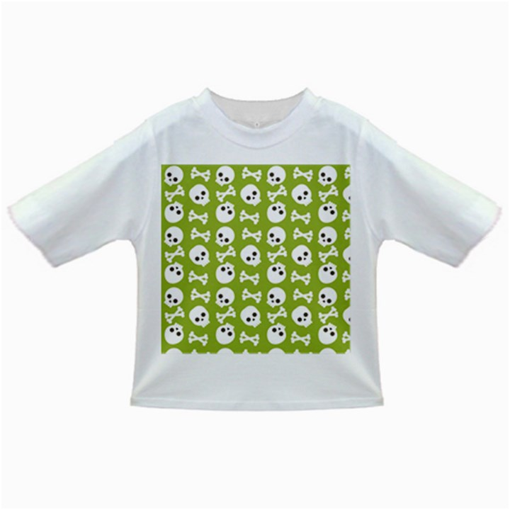Skull Bone Mask Face White Green Infant/Toddler T-Shirts