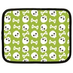 Skull Bone Mask Face White Green Netbook Case (XL)  Front