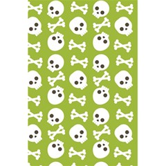 Skull Bone Mask Face White Green 5 5  X 8 5  Notebooks