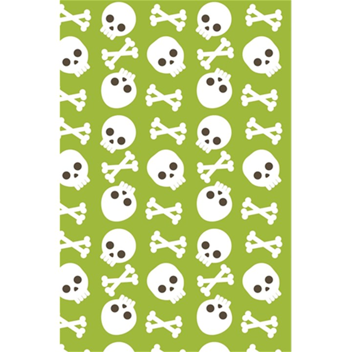 Skull Bone Mask Face White Green 5.5  x 8.5  Notebooks