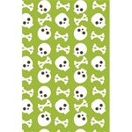 Skull Bone Mask Face White Green 5.5  x 8.5  Notebooks Back Cover Inside