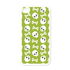Skull Bone Mask Face White Green Apple Iphone 4 Case (white)