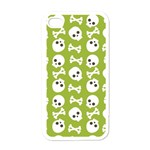 Skull Bone Mask Face White Green Apple iPhone 4 Case (White) Front