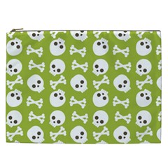 Skull Bone Mask Face White Green Cosmetic Bag (xxl)