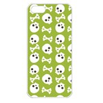 Skull Bone Mask Face White Green Apple iPhone 5 Seamless Case (White) Front
