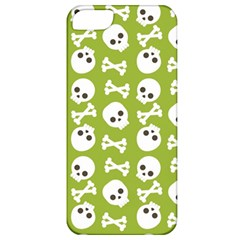 Skull Bone Mask Face White Green Apple Iphone 5 Classic Hardshell Case