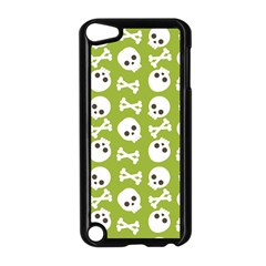 Skull Bone Mask Face White Green Apple Ipod Touch 5 Case (black)