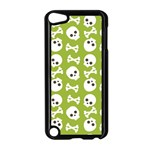 Skull Bone Mask Face White Green Apple iPod Touch 5 Case (Black) Front