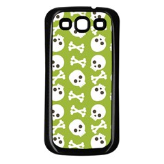 Skull Bone Mask Face White Green Samsung Galaxy S3 Back Case (black)