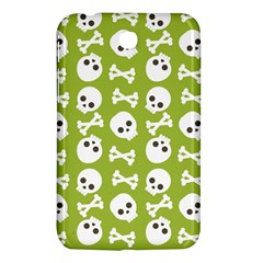 Skull Bone Mask Face White Green Samsung Galaxy Tab 3 (7 ) P3200 Hardshell Case