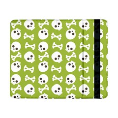 Skull Bone Mask Face White Green Samsung Galaxy Tab Pro 8 4  Flip Case by Alisyart