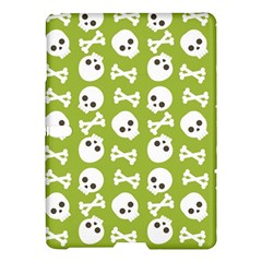 Skull Bone Mask Face White Green Samsung Galaxy Tab S (10 5 ) Hardshell Case