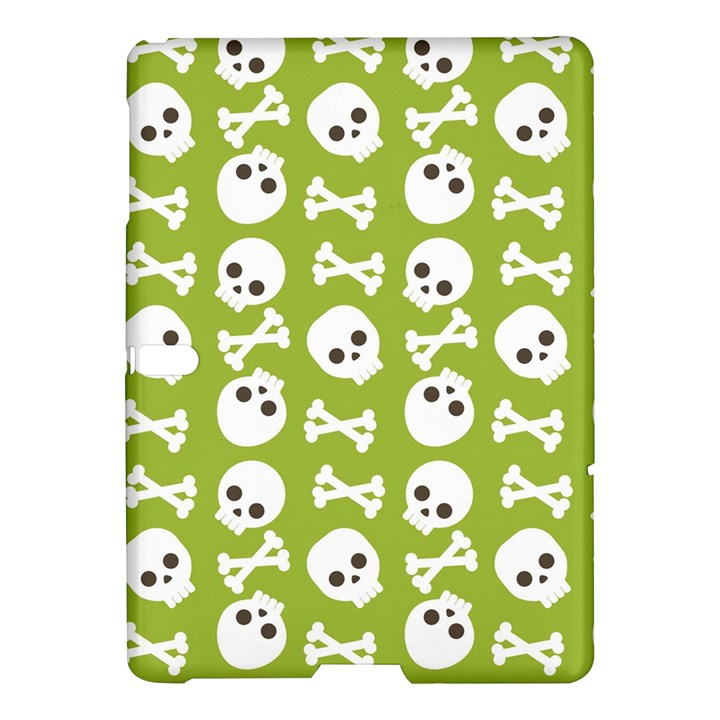 Skull Bone Mask Face White Green Samsung Galaxy Tab S (10.5 ) Hardshell Case