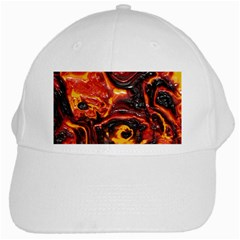 Lava Active Volcano Nature White Cap by Alisyart