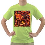Lava Active Volcano Nature Green T-Shirt Front