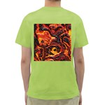 Lava Active Volcano Nature Green T-Shirt Back