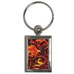 Lava Active Volcano Nature Key Chains (Rectangle)  Front