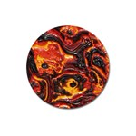 Lava Active Volcano Nature Magnet 3  (Round) Front