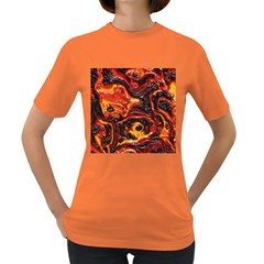 Lava Active Volcano Nature Women s Dark T Shirt by Alisyart