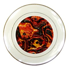 Lava Active Volcano Nature Porcelain Plates by Alisyart