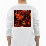 Lava Active Volcano Nature White Long Sleeve T-Shirts Back