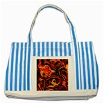 Lava Active Volcano Nature Striped Blue Tote Bag Front
