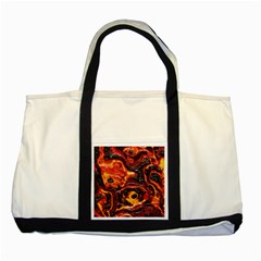 Lava Active Volcano Nature Two Tone Tote Bag by Alisyart