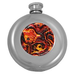 Lava Active Volcano Nature Round Hip Flask (5 Oz)