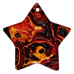 Lava Active Volcano Nature Star Ornament (Two Sides) Back