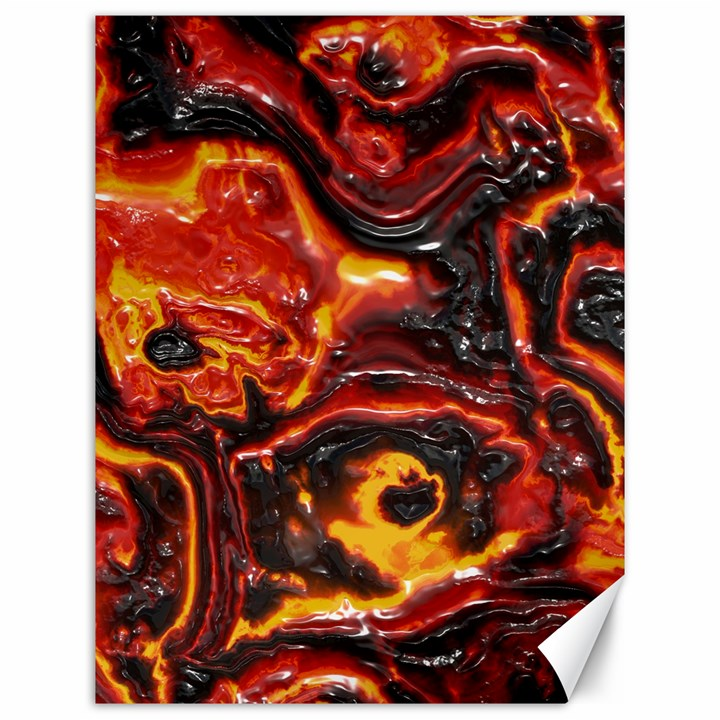 Lava Active Volcano Nature Canvas 12  x 16